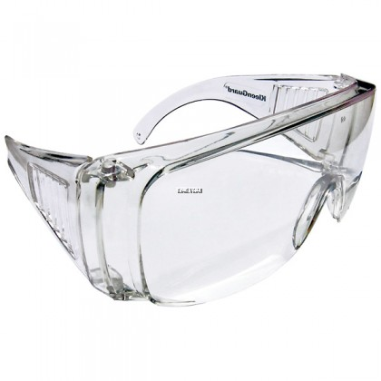 KIMBERLY-CLARK JACKSON SAFETY* 16727 V10 UNISPEC* II SAFETY GLASSES, CLEAR HARDCOATED LENSES WITH CLEAR TEMPLES (CTN) - 50PCS