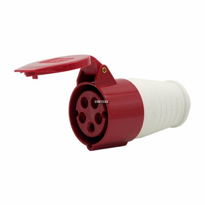 XGH CONNECTOR SOCKET 16A, 3P +N + E (RED) IP44